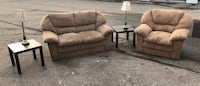 SUEDE BEIGE COUCH/SOFA SET - GREAT CONDITION - DELIVERY AVAILABLE Toronto, M1C 3W6