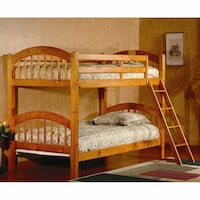 Brand New Oak Bunk Bed + 2 Mattresses