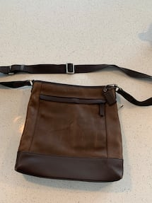 Men's Coach Leather messenger bag