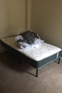 NEED OUT BY TUESDAY Twin Mattress with Frame & Sheets