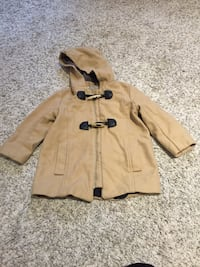 brown and black hooded coat