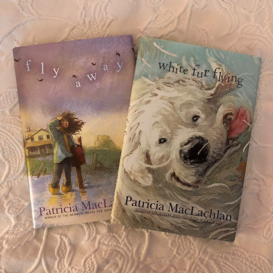 "Books, ""Fly Away"" & ""White Fur Flying"""