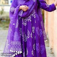 women's purple and white floral sari dress Mumbai, 400078