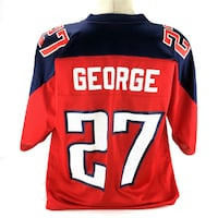 Eddie George Jersey Tennessee Titans 27 Red Alternate Home Vintage Rare Sz Large Port Colborne