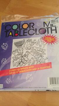 Brand new Chanukah tablecloth with crayons Laval, H7Y 2C1