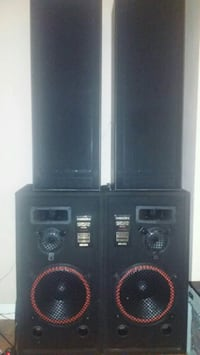 black and gray home theater system Toronto, M1L 1Z9