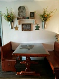 Solid Wood Antique Breakfast Booth/Table Port St. Lucie
