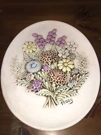 Hand painted plate for hanging  Winfield, 60190