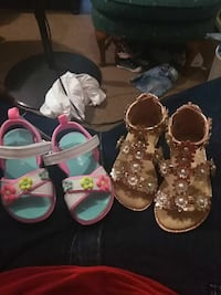 2 brand new girls sandals size 5 and size 6