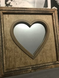 Heart mirror picture frame