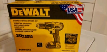 BRAND NEW NEVER OPENED 20 VOLT MAX LITHIUM ION DEWALT COMPACT DRILL/DR
