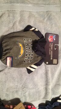 Dog NFL sweater chargers Fillmore, 93015