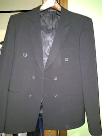 black double breasted suit jacket