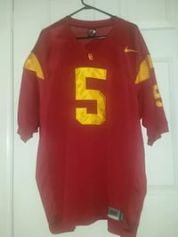 red and yellow Nike and SC 5 v-neck jersey shirt Carson, 90745
