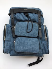 SAINT LAURENT BRAND NEW WITH TAGS DENIM BACKPACK!