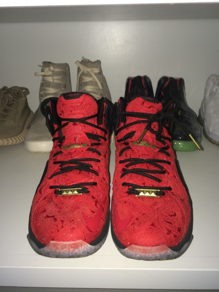 """new style 56f0f c9ff3 Nike Sportswear s """"Red Paisley"""" LeBron 12 EXT Unveiled Lebron 12 ext kings  cloak sz 9.5 - Painesville ..."""