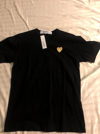 Black cdg shirt with gold heart  551 km