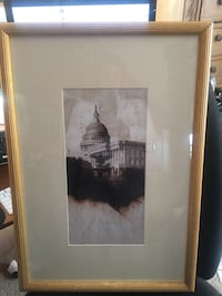 Constitution building DC framed picture
