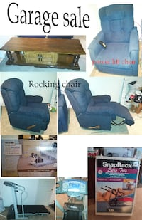 blue suede sofa chair collage Montreal