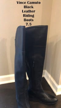 Vince Camuto Black Leather Over the Knee Riding Boots 7.5 Lanham