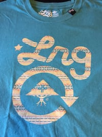 blue Lng-printed crew-neck t-shirt Reno, 89506
