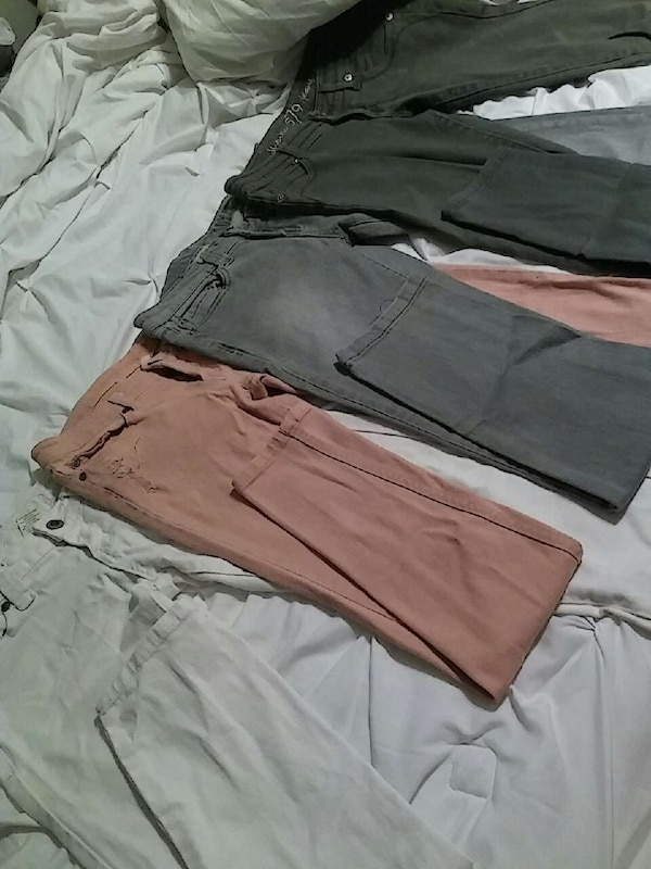 2fb3ab384a74 Used 2 gray denim jeans 1 pink denim 1 white for sale in Edcouch - letgo
