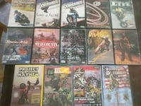 motorcycle dvd's $10 for 14 dvd's