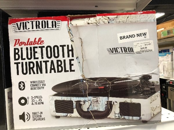 New! Victrola Portable Bluetooth Turntable