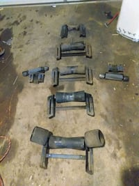 Boat trailer rollers with brackets