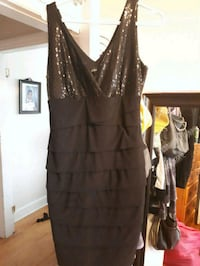 black surplice-neckline sleeveless dress Halifax, B3R 1R2