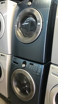 gray front-load washer and dryer set Toronto, M6H 2C5