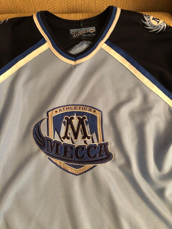 White and blue Mecca jersey