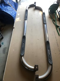 Back country step rails for truck