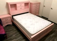 3PC Twin/Full Pink Bed •$5 down• No Credit Check