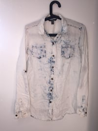Bleached button up Calgary, T3K 1L1