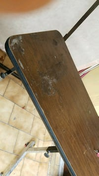 brown wooden folding table with black metal base Hialeah, 33012