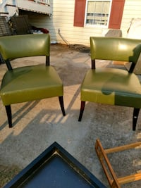 two green leather padded chairs Gillsville, 30543