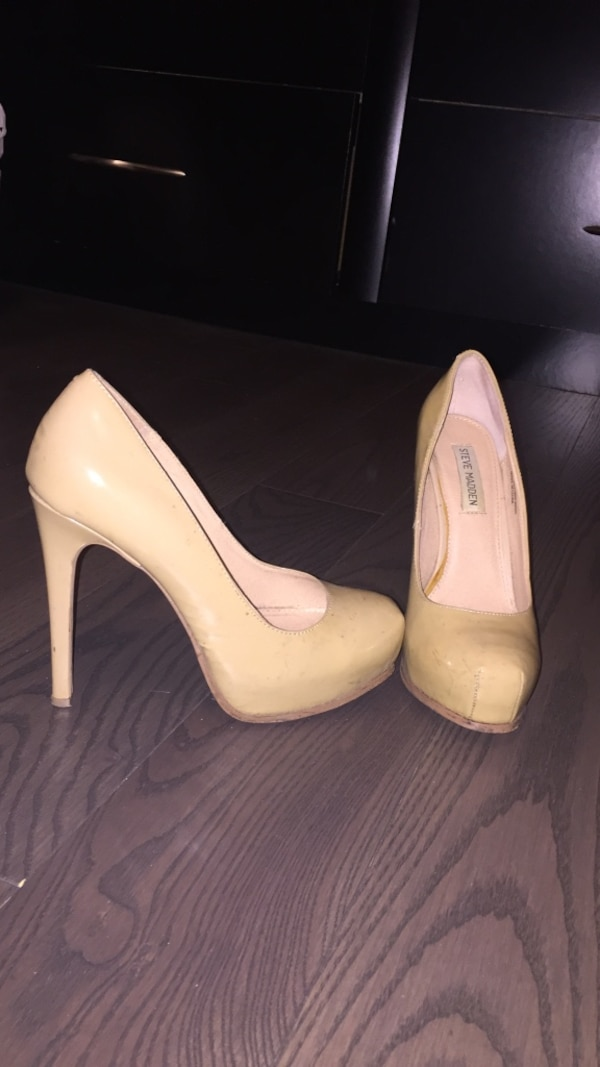 bb0085808ec4 Used pair of brown leather steve madden high heeeld shoes for sale in  Mississauga