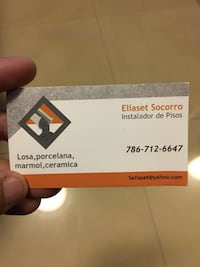 Used eliaset socorro business card for sale in hialeah letgo eliaset socorro business card hialeah 33012 reheart Choice Image