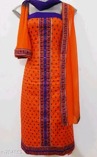 Elegant Cotton Embrodered Dress Material New Delhi, 110017