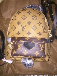 Zaino Louis Vuitton marrone e nero Roma, 00197