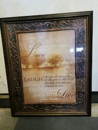 brown wooden framed wall decor Surprise, 85378