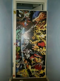 Marvel earth X monster lithograph.