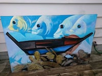 blue and brown fish painting London, N5Z 2T2