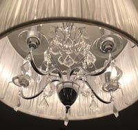 stainless steel framed uplight chandelier Montréal, H1M 2T9