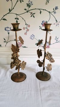 Pair of Metal Grapes Candle Stand Bowie, 20715