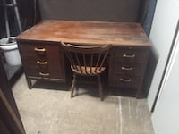 Vintage hardwood executive desk w/ drawers nice antique woodworking project for a craftsman! Portsmouth, 23704