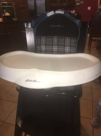 baby's white and black high chair 29 km