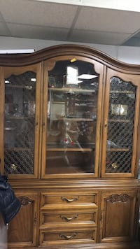 brown wooden framed glass display cabinet Alexandria, 22315