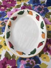 White chili peppers ceramic platter San Marcos, 92078